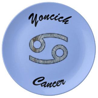 Krebs-Tierkreis-Symbol-Element durch Kenneth Porzellanteller