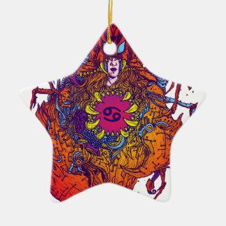 Krebs-Tierkreis-Zeichen Keramik Ornament