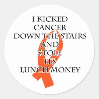 Krebs-Tyrann (orange Band) Runder Aufkleber