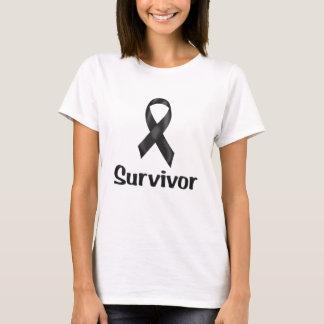 Krebs-Überlebend-Schwarzes T-Shirt