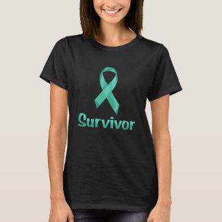 Krebs-Überlebender aquamarin T-Shirt
