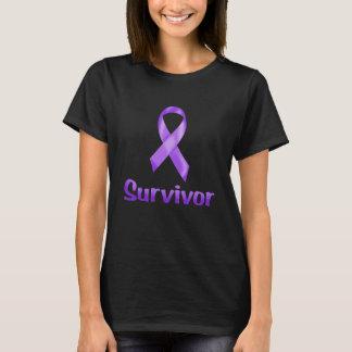Krebs-Überlebender lila T-Shirt