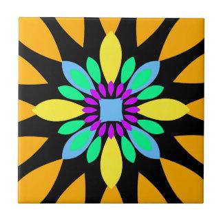 Kreis-Blumengelb 01 Keramikfliese