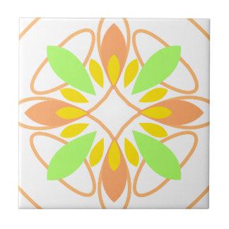 Kreis-Blumenorange 01 Keramikfliese