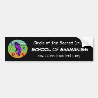 Kreis der heiligen Trommel-Schule von Shamanism Autoaufkleber