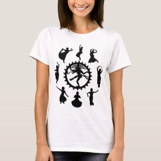 Kreis der indischen Tanz-Frauen hell T-Shirt