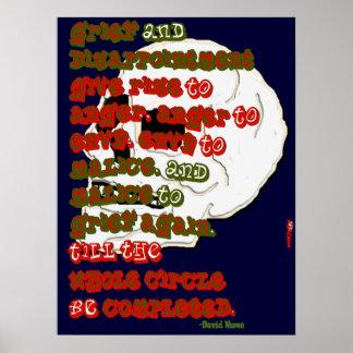 Kreis des Leid-Plakats Poster