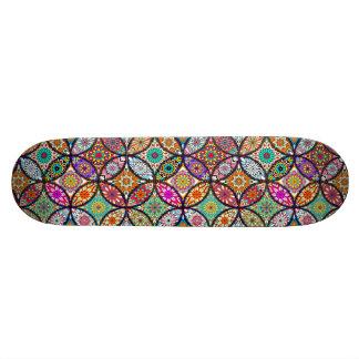 Kreis-Kunstmuster des BlumenMandalases kreatives 20,6 Cm Skateboard Deck