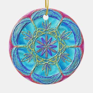 "Kreis-Ornament ""The Flow of Spirits"" Rundes Keramik Ornament"