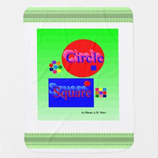 Kreis-quadratische Baby-Decke Puckdecke