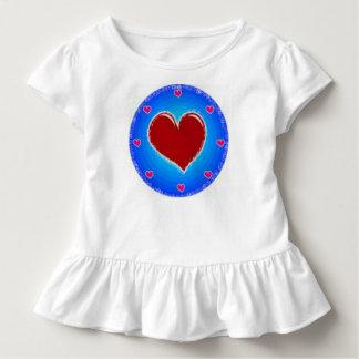 Kreis und Herz Kleinkind T-shirt