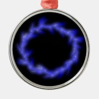 Kreisblitz Silbernes Ornament