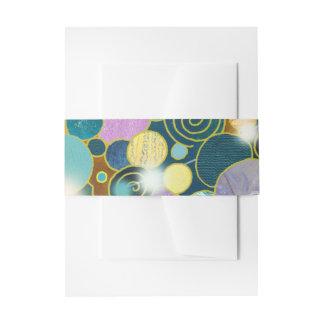Kreise u. Spirale-aquamarine Natur-inspirierte Einladungsbanderole