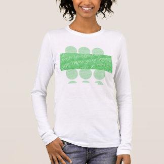 Kreise und Kasten-Entwurfs-Effekt Langarm T-Shirt