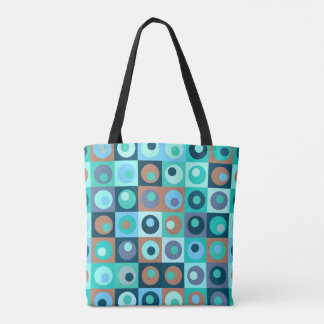 Kreise und Quadrat-Muster Tasche