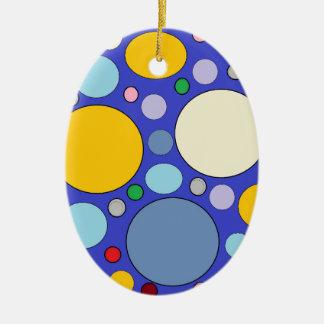 Kreise und Tupfen Keramik Ornament