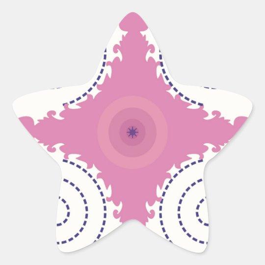 Kreisentwurfs-Motiv-Schablone für Stern-Aufkleber