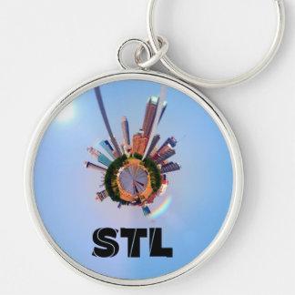 Kreisförmiges panoramisches St. Louis Keychain Schlüsselanhänger