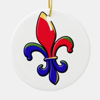 Kreolische Lilien-Verzierung Rundes Keramik Ornament