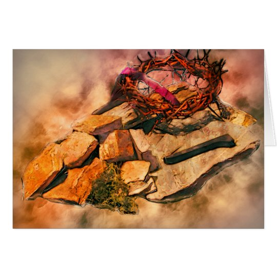 Kreuz der Dornen Grußkarte