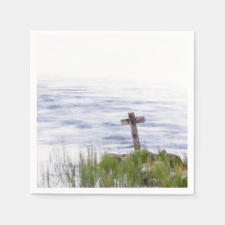Kreuz durch Fluss Papierserviette