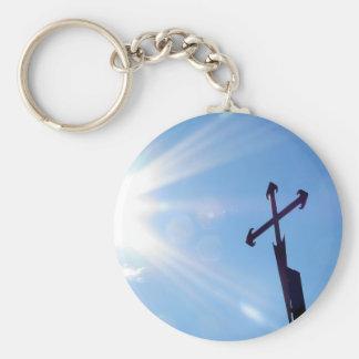 Kreuz von St James Keychain Standard Runder Schlüsselanhänger