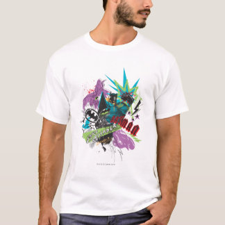 Kreuzfahrer-Neon-Collage Batmans Caped T-Shirt