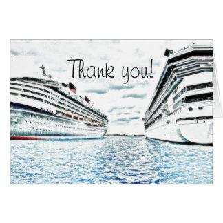 Kreuzfahrt-Ferien See | danken Ihnen Karte