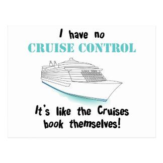 Kreuzfahrt-Kontrolle Postkarte