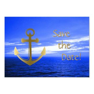 Kreuzfahrt-Schiff, das Save the Date Seeanker Karte