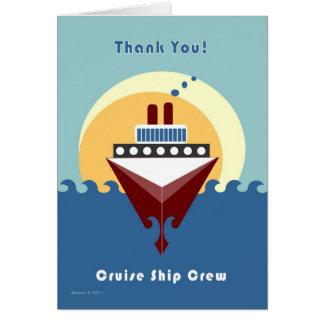 Kreuzfahrt-Schiffs-Crew - danke Karte
