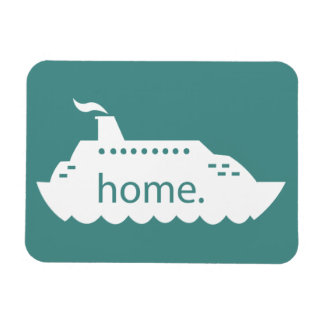 Kreuzfahrt-Schiffs-Zuhause - aquamarin Magnet