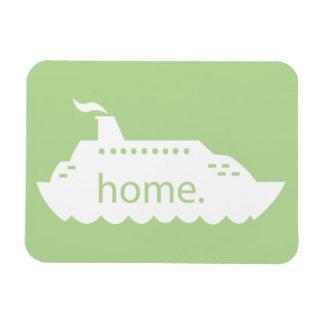 Kreuzfahrt-Schiffs-Zuhause - hellgrün Magnet