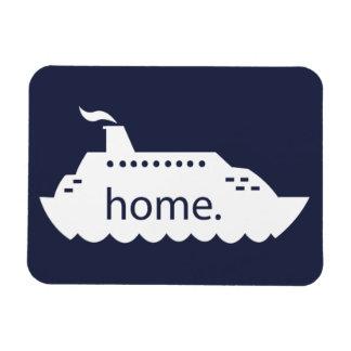Kreuzfahrt-Schiffs-Zuhause - Marineblau Magnet