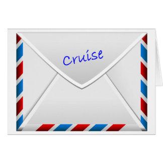 Kreuzfahrt-Umschlag Karte