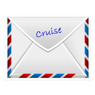Kreuzfahrt-Umschlag Postkarte
