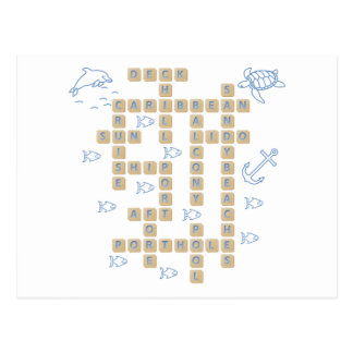 Kreuzfahrt-Wort-Spiel Postkarte