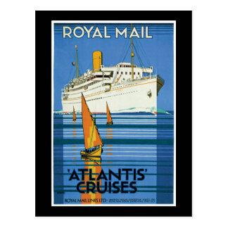 Kreuzfahrten Royal Mails Atlantis Postkarte
