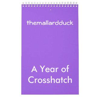Kreuzschraffierenkalender Wandkalender
