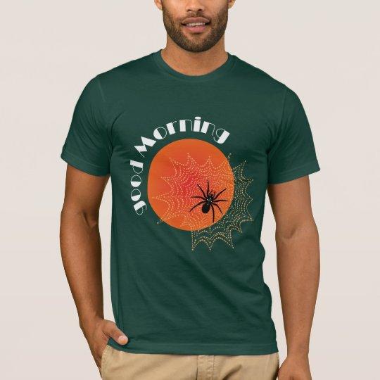 Kreuzspinne im Netz bei Sonnenaufgang Shirt