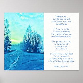 Kreuzungs-Poesie u. Digital-Kunst Poster