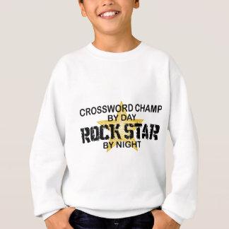 Kreuzworträtsel-Champions-Rockstar bis zum Nacht Sweatshirt