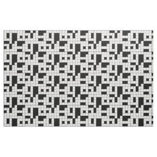 Kreuzworträtsel-Muster-Gewebe Stoff