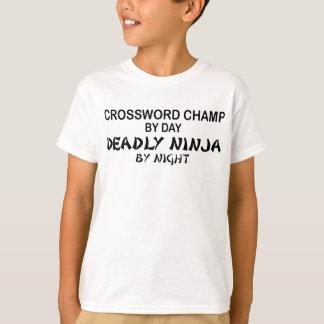 Kreuzworträtsel tödliches Ninja bis zum Nacht T-Shirt