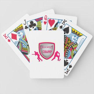 Kricket-Spielpreise, Trophäen, Geschenke Pokerkarten