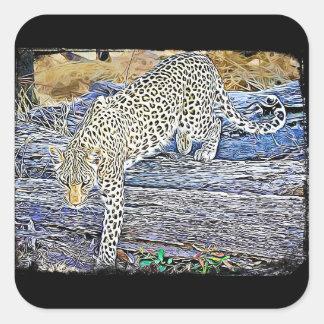 Kriechenleopard-schwarze Aufkleber