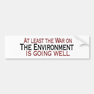 Krieg auf der Umwelt Autoaufkleber