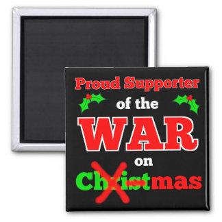 """""""Krieg auf Weihnachten"""" Weihnachtsmagnet Quadratischer Magnet"""