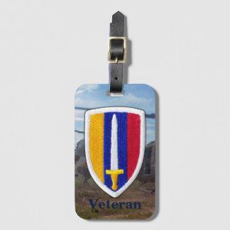 Krieg der Armee-USARV Vietnam Nam untersucht Gepäckanhänger