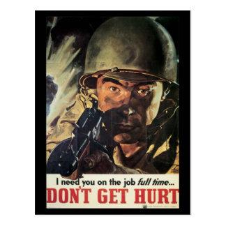 Kriegs-Arbeits-Bemühung - erhalten Sie nicht Postkarte